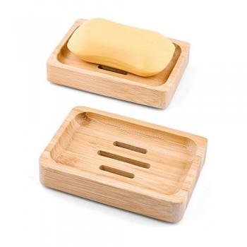 Porte savon bambou rectangulaire