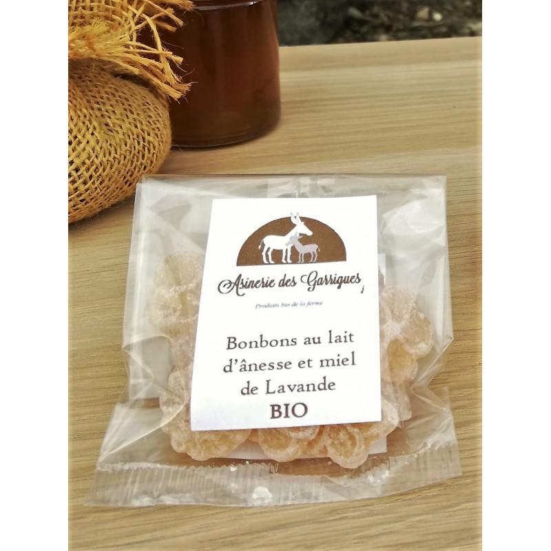 Bonbons Lait d'ânesse BIO & Miel de Lavande BIO - Petit sachet